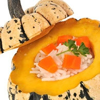Courge Patidou farcie