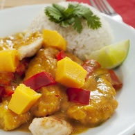 Riz en sauce Mangue Curry
