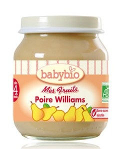 Babybio : Mes Fruits, Poire Williams ( dès 4 mois ) 130g
