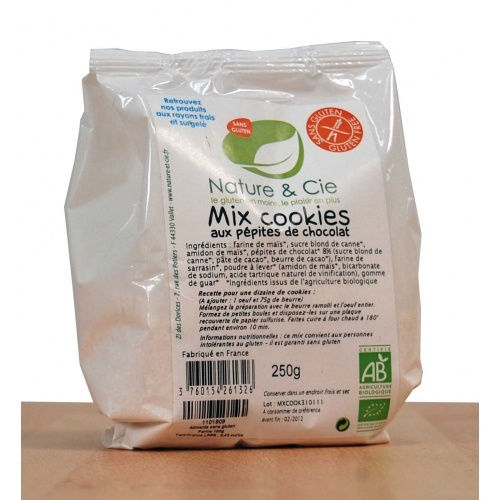 Nature & Cie, Mix Cookies Sans Gluten 250g