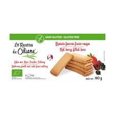 Biscuit fourré fruits rouges 160g